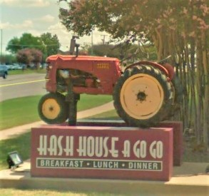 Hash House tractor sign